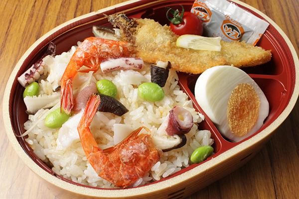 秋田の海の幸がつまった牡鹿海鮮弁当