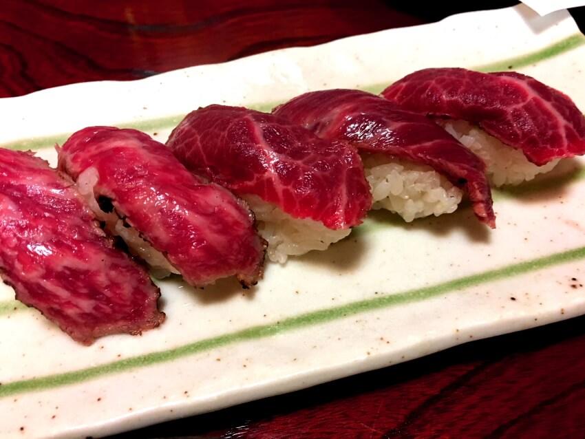 宮古牛のローストビーフ寿司