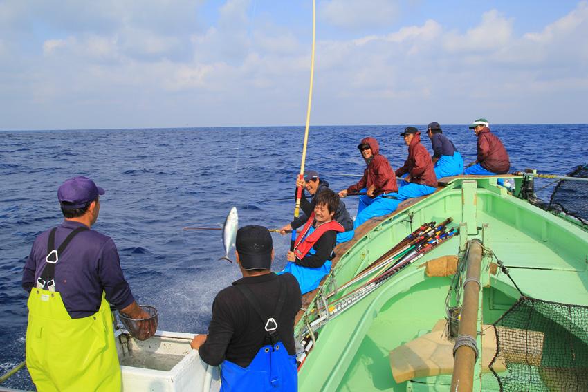 宮古島ひとときさんぽツアー「カツオ一本釣り修行ツアー」画像提供:プラネット・フォー