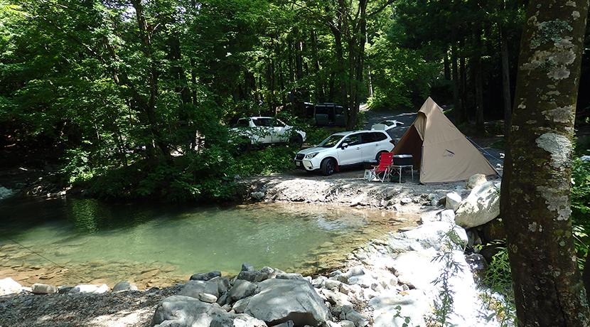 志村 山梨 場 県道 キャンプ